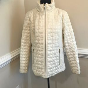 NWT Kate Spade Quilted Jacket w/Hidden Hood Cream